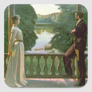 Nordic Summer Evening, 1899-1900 Square Sticker