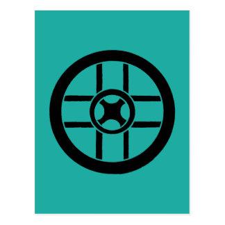 Nordic Symbol: Wheel Cross Postcard
