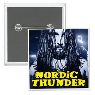 Nordic Thunder 2 Inch Square Button