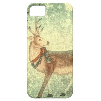 Nordic vintage scandinavian christmas reindeer iPhone SE/5/5s case