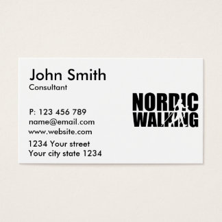Nordic walking business card