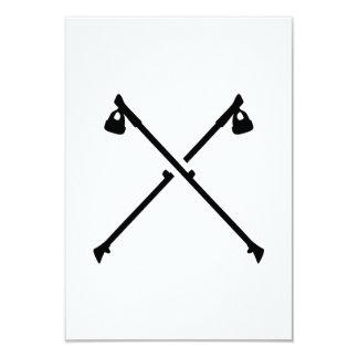 Nordic Walking crossed sticks 3.5x5 Paper Invitation Card