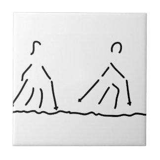 nordic walking fitness sport ceramic tile