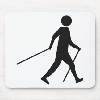 nordic walking icon mouse pad
