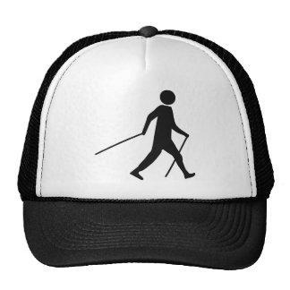 nordic walking icon trucker hat