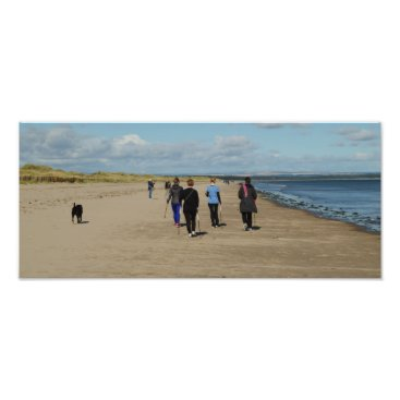 Beach Themed Nordic Walking On West Sands Photo Print