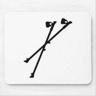 Nordic Walking sticks Mouse Pad