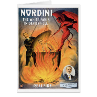Nordini~ In Devils Hell Vintage Magic Act Card
