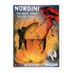 Nordini~ In Devils Hell Vintage Magic Act Postcard