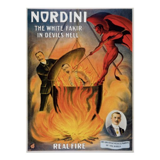 Nordini~ In Devils Hell Vintage Magic Act Posters