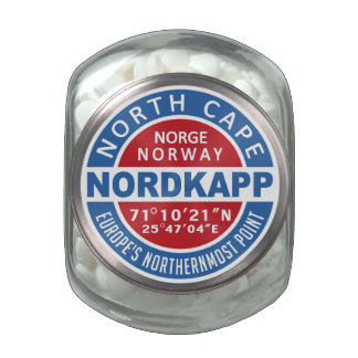 NORDKAPP Norway tins & jars Jelly Belly Candy Jars