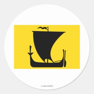 Nordland flag classic round sticker