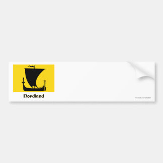 Nordland flag with name bumper stickers