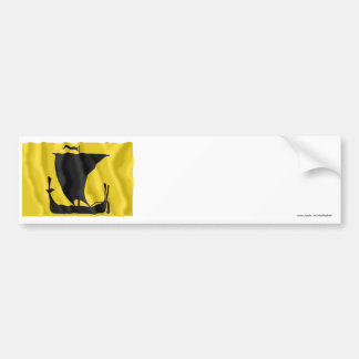 Nordland waving flag bumper sticker