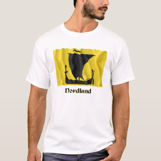 Nordland waving flag with name T-Shirt