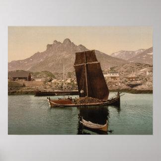 Nordlandsbaat, Nordland, Norway archival print