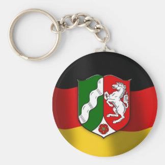 Nordrhein-Westfalen coat of arms Basic Round Button Keychain