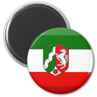 Nordrhein-Westfalen Flag Gem 2 Inch Round Magnet