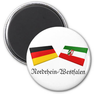 Nordrhein-Westfalen, Germany Flag Tiles 2 Inch Round Magnet