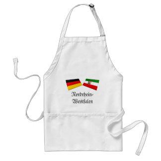 Nordrhein-Westfalen, Germany Flag Tiles Adult Apron
