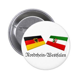 Nordrhein-Westfalen, Germany Flag Tiles Button