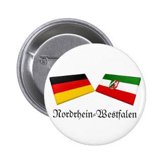 Nordrhein-Westfalen, Germany Flag Tiles Pinback Buttons