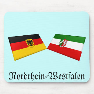 Nordrhein-Westfalen, Germany Flag Tiles Mouse Pad