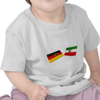 Nordrhein-Westfalen Germany Flag Tiles Tee Shirts