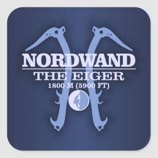 "Nordwand ""The Eiger"" Square Sticker"