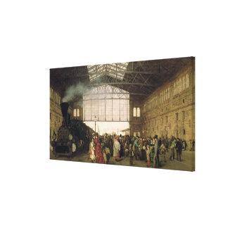 Nordwest Bahnhof, Vienna, 1875 Canvas Print