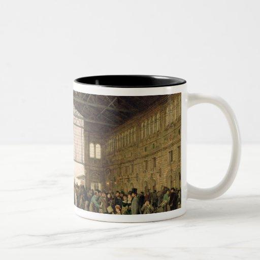 Nordwest Bahnhof, Vienna, 1875 Two-Tone Coffee Mug