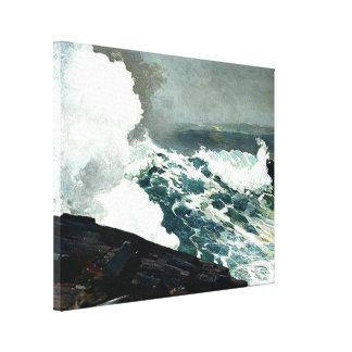 Noreaster - Winslow Homer famous painting Canvas Prints