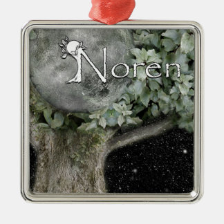 Noren SoT Square Metal Christmas Ornament