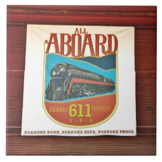 Norfolk and Western 611 Banner On Tile