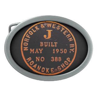 Norfolk and Western 611 Builders Plate Belt Buckle