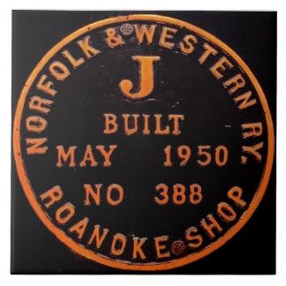 Norfolk and Western 611 Builders Plate Tile