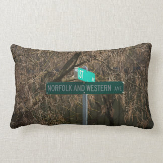 Norfolk and Western Ave, Street Sign Pillow