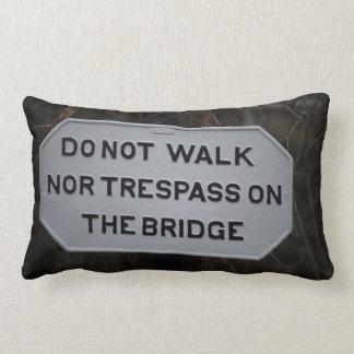Norfolk and Western Railway Bridge Sign Pillow
