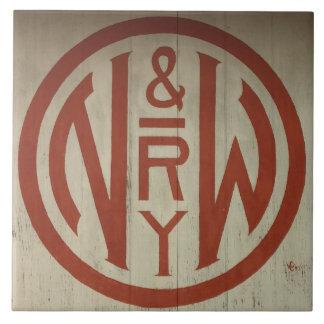 Norfolk and Western Railway Logo Tile
