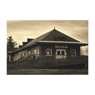 Norfolk and Western Railway Pamplin Train Station Canvas Print