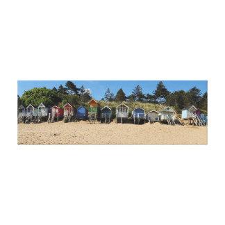 NORFOLK BEACH-HUTS CANVAS PRINT