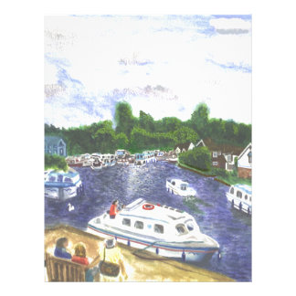 Norfolk Broads view from Wroxham Letterhead