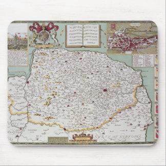 Norfolk, engraved by Jodocus Hondius Mouse Pad