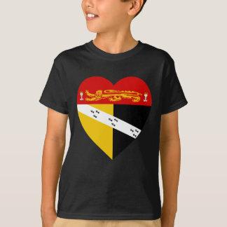 Norfolk Flag Heart T-Shirt