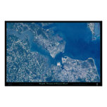 Norfolk Hampton & Virginia Beach Virginia satellit Print