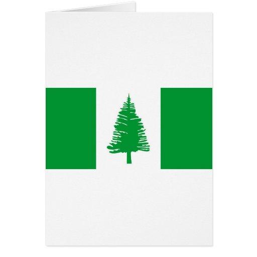 Norfolk Island flag Card