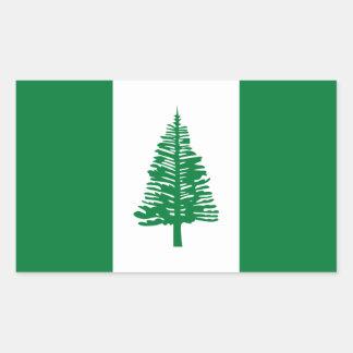 Norfolk Island Flag. Commonwealth of Australia Rectangular Sticker