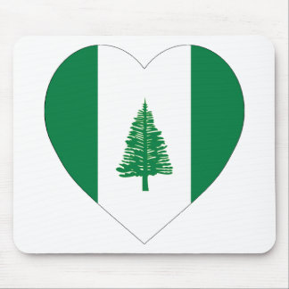 Norfolk Island Flag Heart Mouse Pad