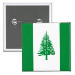 Norfolk Island Flag Pinback Buttons