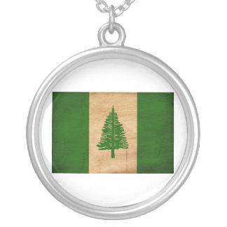 Norfolk Island Flag Round Pendant Necklace